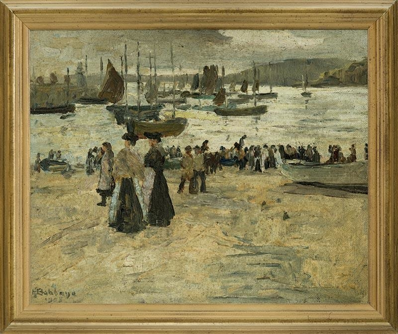 Untitled (Beach Scene with Figures)