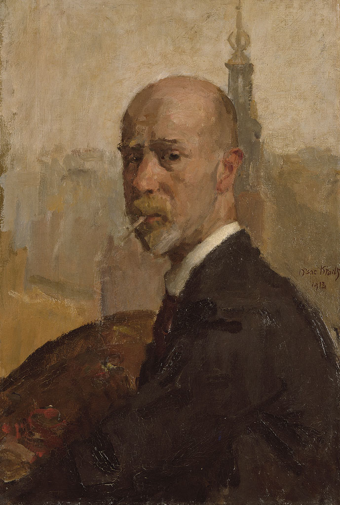 Self-portrait met Munttoren