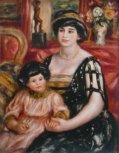 Madame Josse Bernheim-Jeune et son fils Henry