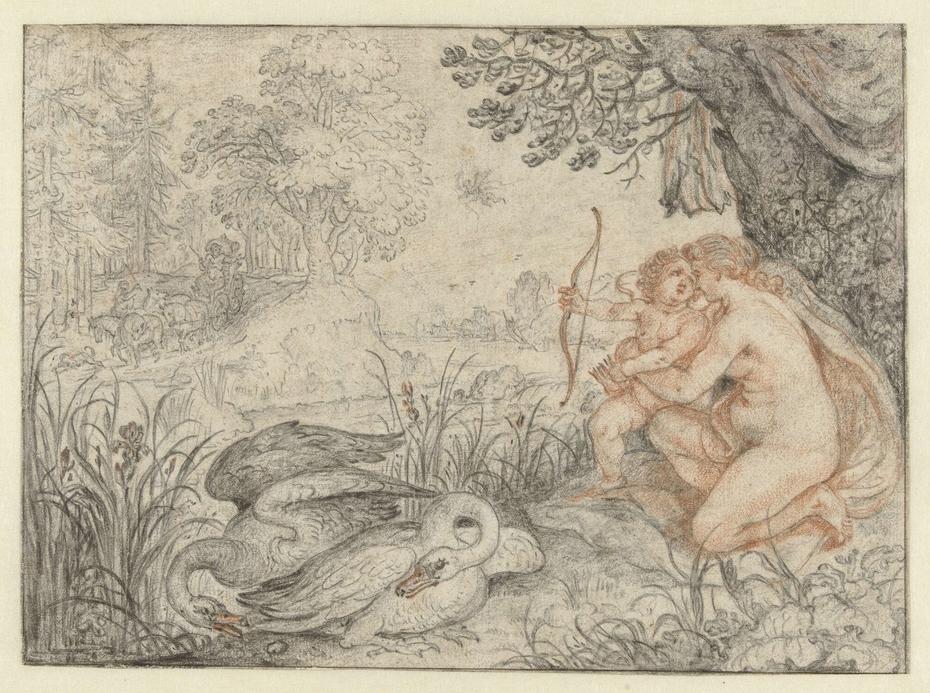 Venus Urging Cupid to Shoot his Arrow at Pluto