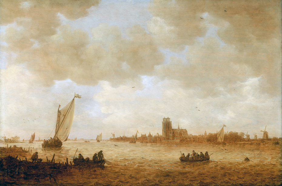 View of Dordrecht with the Grote Kerk across the Maas