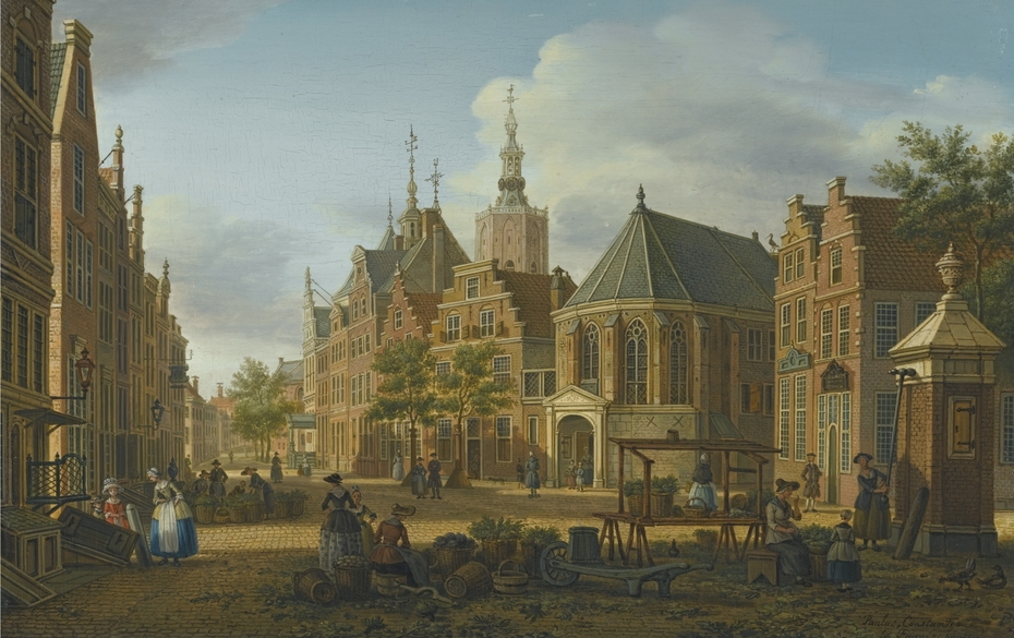 View of the Groenmarkt looking towards Westeinde in The Hague