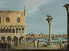 View of the Piazetta with the Southwest corner of the Doge Palace