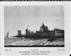View of the Rietdijkse Poort in Dordrecht