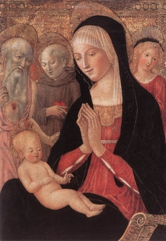Virgin and Child with Saint Jerome, Saint Anthony of Padua and Two Angels