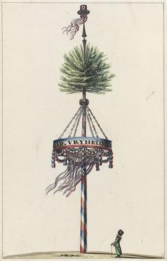 Vrijheidsboom op het Koningsplein, 1795