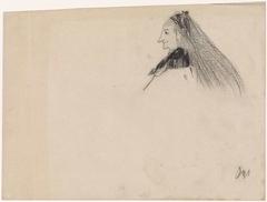 Vrouwtje met lang haar