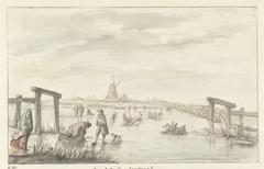 Wintergezicht te Boom, van het Zwarte Water bij Zwolle