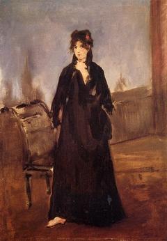 Woman in Rose Shoes (Berthe Morisot)