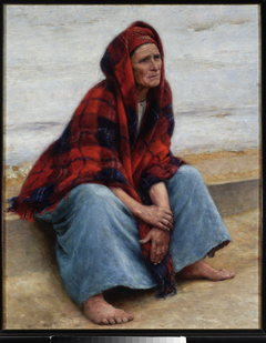 """Woman, study for the painting """"Peasant coffin"""""""