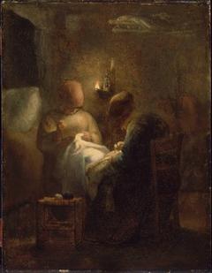 Women Sewing by Lamplight (La Veillée)