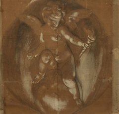 A Cupid, Blindfold, Seated on a Globe