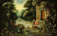 A Garden with Vertumnus and Pomona
