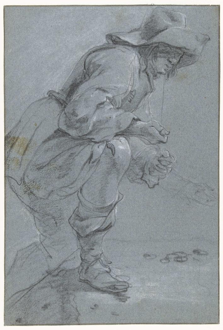 A Man playing 'Koten'