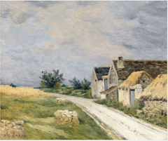 A Road with Farm Buildings