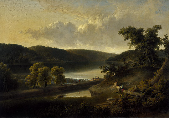 A View of the Flat Rock on the Schuylkill, near Philadelphia