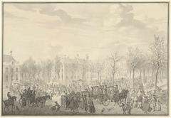 Aankomst van prins Willem V te 's-Gravenhage, 10 november 1762