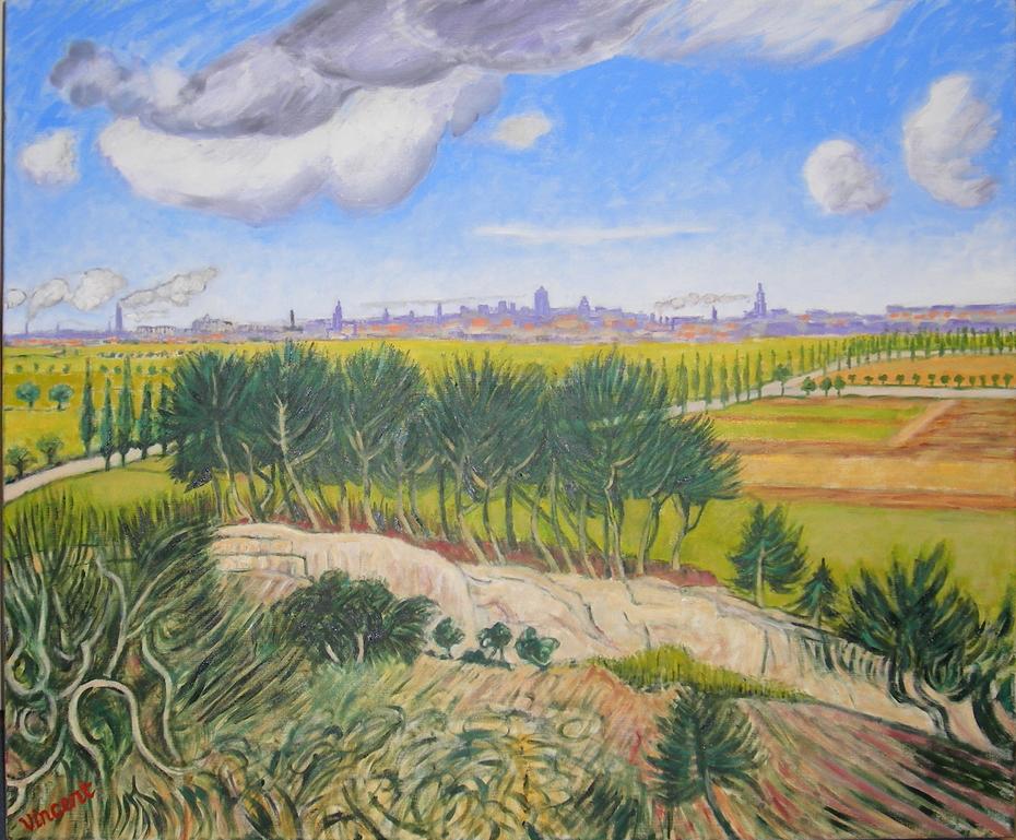 After Vincent 3. (2008), Oil on linen, 120 x 100 cm.
