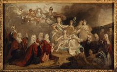 Allégorie des fiançailles de Louis XV avec l'infante Marie-Anne-Victoire d'Espagne (1722)