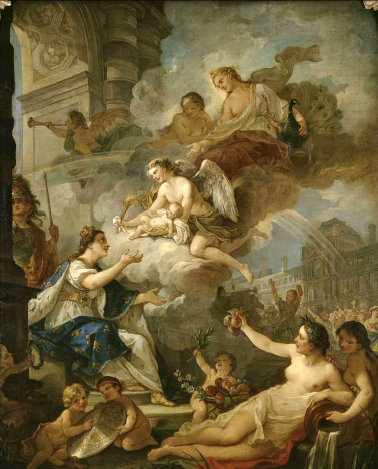 Allegory of the Birth of Marie-Zéphyrine of France, daughter of Louis of France