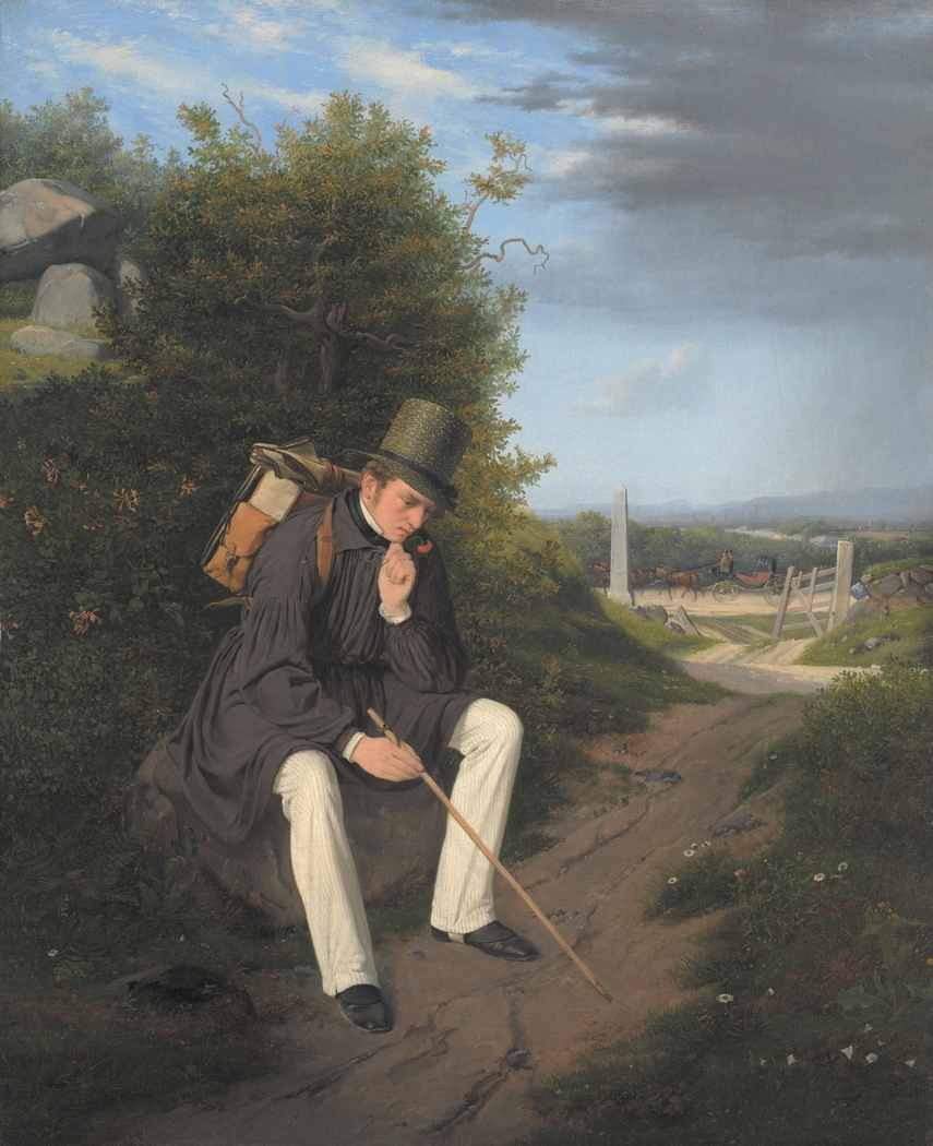 An Artist Resting by the Roadside