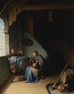 An Old Woman eating Porridge
