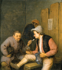 Boors smoking in a Tavern