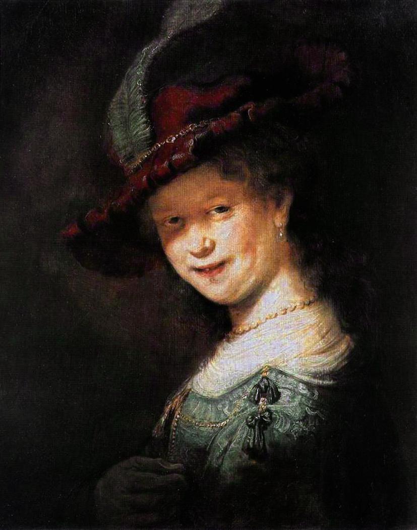 Bust of a Young Woman Smiling, possibly Saskia van Uylenburgh