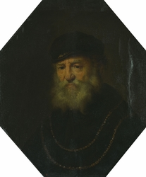 Bust of an Old Man with Two Gold Chains