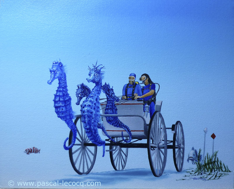 CALECHE POUR BEA ET PHILIPPE - Carriage for Bea and Philippe - by Pascal
