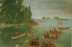 Canoe Race Near Sault Ste. Marie