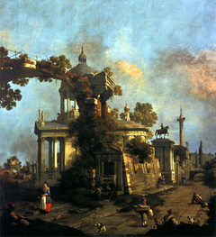 Capriccio with a Domed Church and the Colleoni Monument