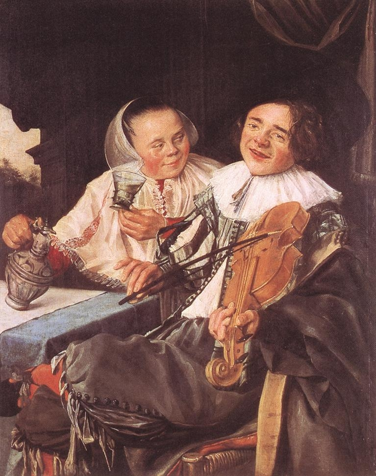 Carousing couple