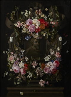 Cartouche with Flowers