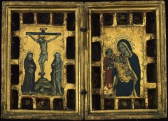 Christ on the Cross with Saints Francis and Onophrius; The Virgin and Child with Saint Lawrence