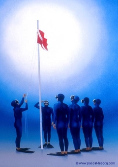 COLOURS HOISTED - Divers Salute - by Pascal