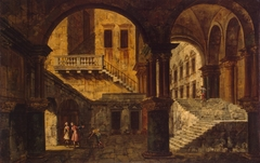 Courtyard with a Staircase