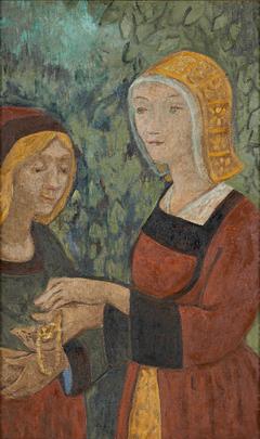 Deux Bretonnes au collier d'or
