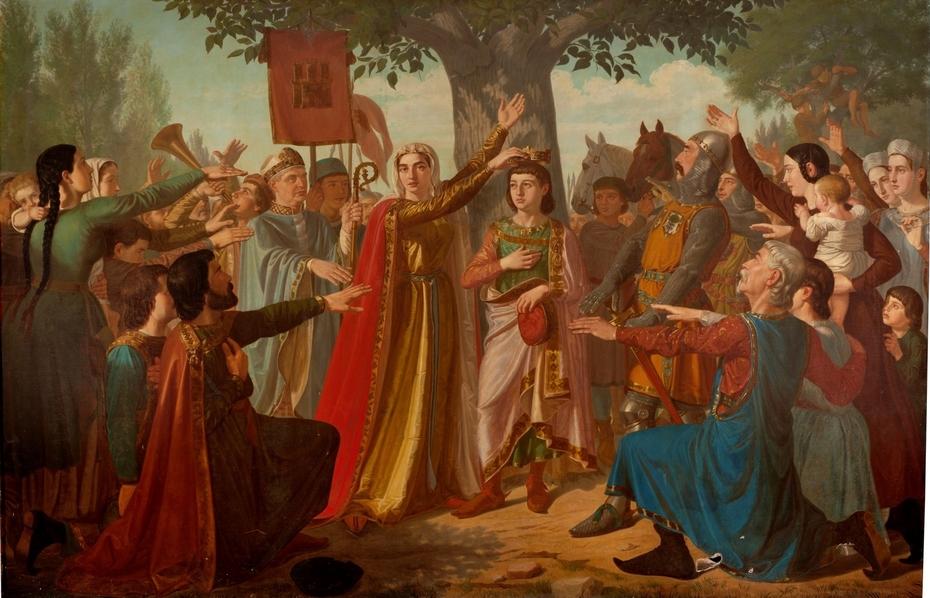 Doña Berenguela coronando a su hijo don Fernando