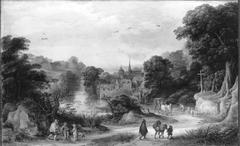 Dorflandschaft und Jan Brueghel d. Ä. (Umkreis)