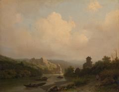 Een rivier in bergachtig landschap