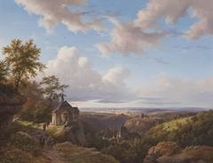 Eifellandschap met kerkje