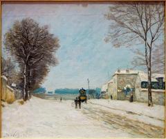 En hiver, effet de neige