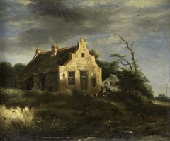Farm in a wooded dune landscape
