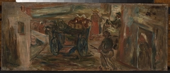 Genre scene with a cart