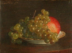 Grapes and an Apple
