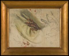Hand Studies for the Portrait of Gustaf Fröding