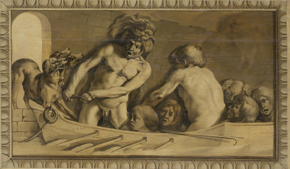 Hercules Gets Cerberus from the Underworld (Charon, the Ferryman of the Styx)