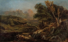 Hilly Landscape with an Angler