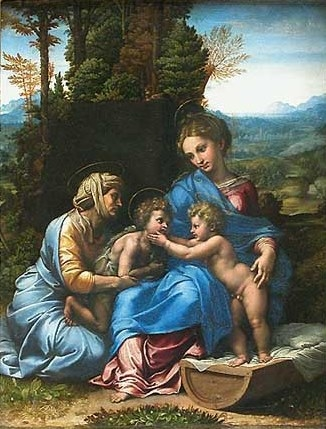 Holy Family with Saint Elizabeth and the infant St. John
